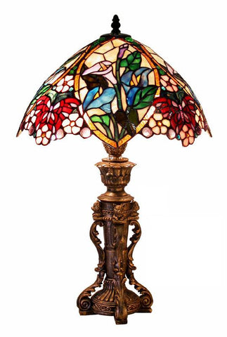 Tiffany Style Floral Design Table Lamp by Warehouse of Tiffany 2848+BB818 - Peazz.com
