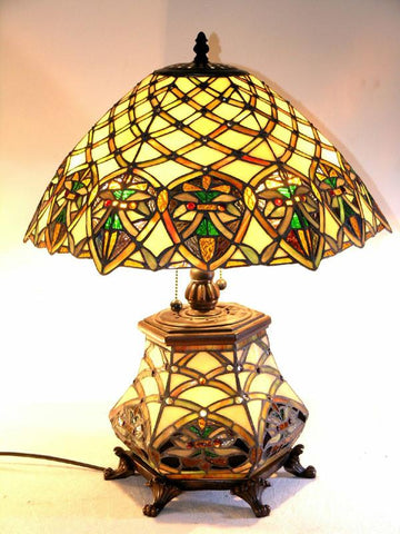 Tiffany Style All Glass Arielle Table Lamp by Warehouse of Tiffany 3046#LGLS - Peazz.com