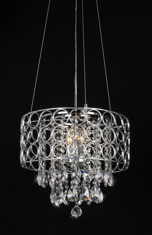 Warehouse of Tiffany RL1189 Antoinette Crystal-Chrome Chandelier - Peazz.com