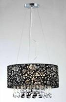 Warehouse of Tiffany RL4407 Camilla Crystal- Black Chandelier - Peazz.com