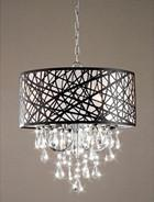 Warehouse of Tiffany RL5425 Caroline Crystal-Black Chandelier - Peazz.com