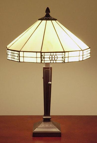 Tiffany-Style Mission Table Lamp by Warehouse of Tiffany T14M113 - Peazz.com