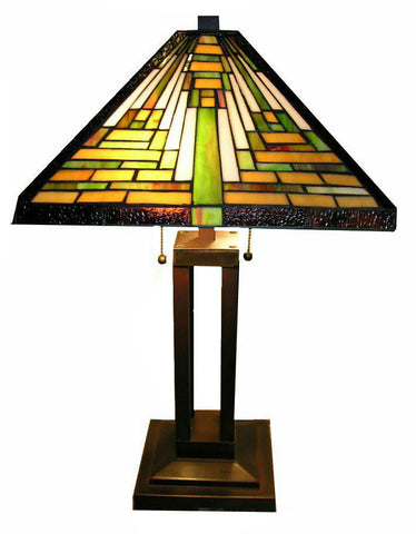 Tiffany Style Mission Table Lamp by Warehouse of Tiffany TBS2008/D70 - Peazz.com