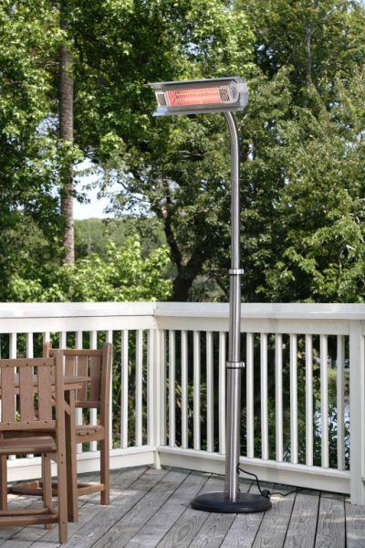 Well Traveled Living 2117 Stainless Steel Telescoping Offset Pole Mounted Infrared Patio Heater