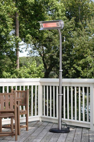 Well Traveled Living 2117 Stainless Steel Telescoping Offset Pole Mounted Infrared Patio Heater - Peazz.com