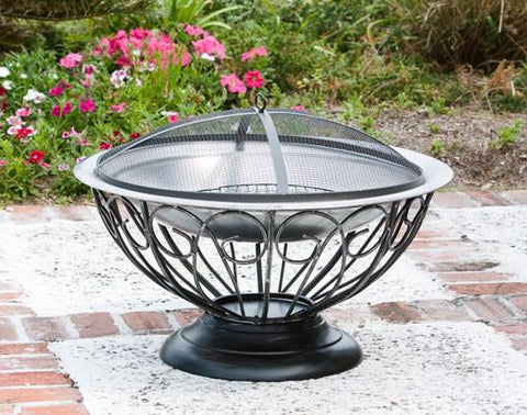 Well Traveled Living 2119 Stainless Steel Urn Fire Pit - Peazz.com