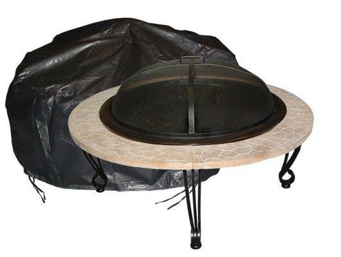 Well Traveled Living 2126 Large Outdoor Round Fire Pit Vinyl Cover - Peazz.com