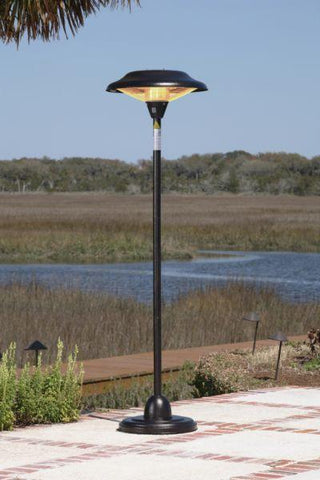 Well Traveled Living 60514 Hammer Tone Bronze Floor Standing Round Halogen Patio Heater - Peazz.com