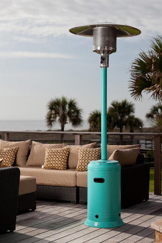 Well Traveled Living 61130 Aqua Blue Powder Coated Patio Heater - Peazz.com
