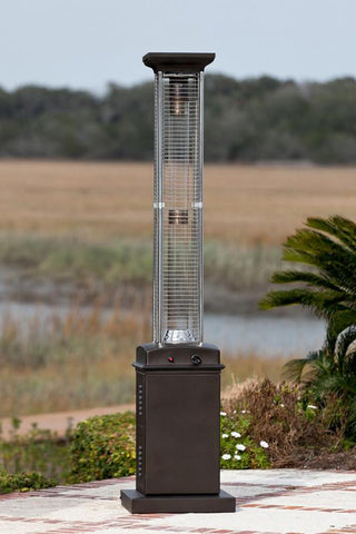 Well Traveled Living 61166 Mocha Finish Square Flame Patio Heater - Peazz.com
