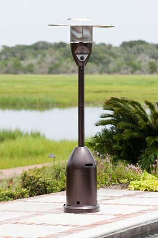 Well Traveled Living 61315 Hammer Tone Bronze Deluxe Patio Heater - Peazz.com