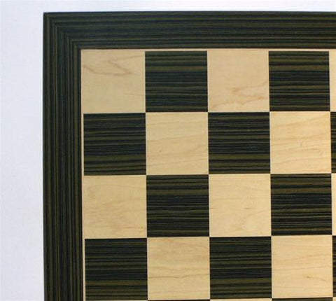 "Ebony and Maple Chess Board, 2.2"" Squares - Peazz.com"