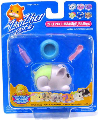Zhu Zhu Pets Hamster Babies Snickle Fritz White Baby with Green Diaper - Peazz.com