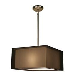Z-Lite Nikko Collection Brushed Nickel/Black Finish Three Lights Pendant - Peazz.com