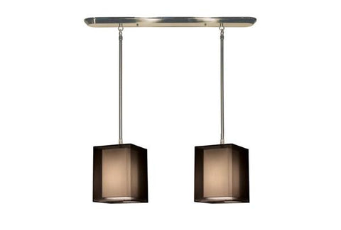 Z-Lite Nikko Collection Brushed Nickel/Black Finish Two Lights Island/Billiard - Peazz.com