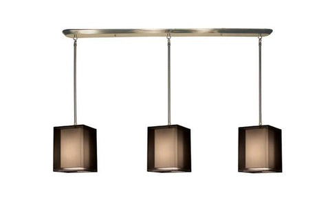 Z-Lite Nikko Collection Brushed Nickel/Black Finish 9 Lights Island/Billiard - Peazz.com
