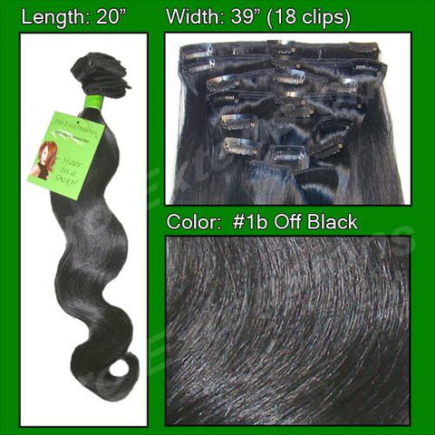 Pro-Extensions PRBD-20-1b   #1b Off Black - 20 inch Body Wave - Peazz.com