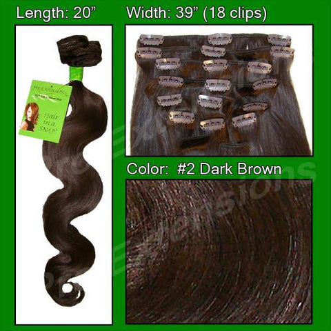 Pro-Extensions PRBD-20-2   #2 Dark Brown - 20 inch Body Wave - Peazz.com