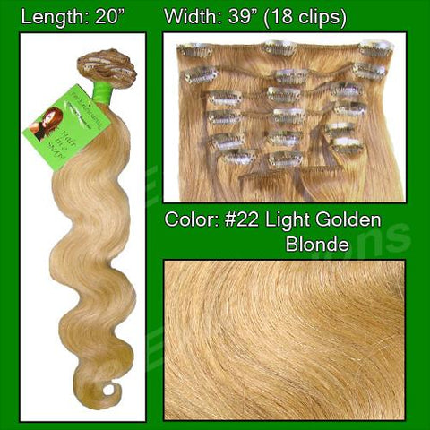 Pro-Extensions PRBD-20-22   #22 Medium Blonde - 20 inch Body Wave - Peazz.com