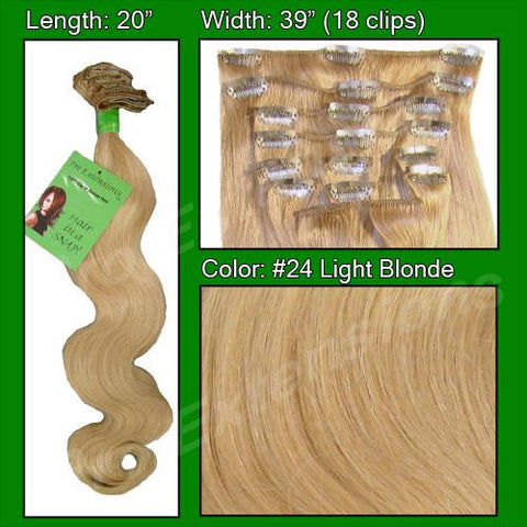 Pro-Extensions PRBD-20-24   #24 Light Blonde - 20 inch Body Wave - Peazz.com