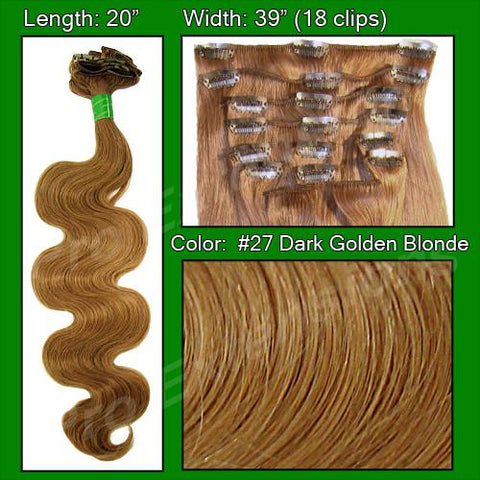 Pro-Extensions PRBD-20-27   #27 Dark Golden Blond - 20 inch Body Wave - Peazz.com