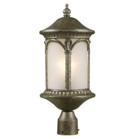 Z-Lite Hampton Collection Antique Silver  Finish Outdoor Post Light - Peazz.com