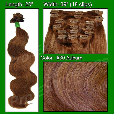Pro-Extensions PRBD-20-30   #30 Auburn - 20 inch Body Wave - Peazz.com