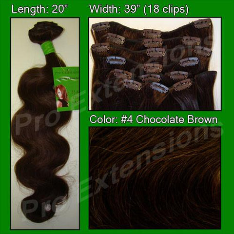Pro-Extensions PRBD-20-4   #4 Chocolate Brown - 20 inch Body Wave - Peazz.com