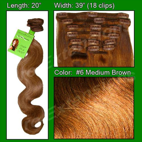 Pro-Extensions PRBD-20-6   #6 Medium Brown - 20 inch Body Wave - Peazz.com