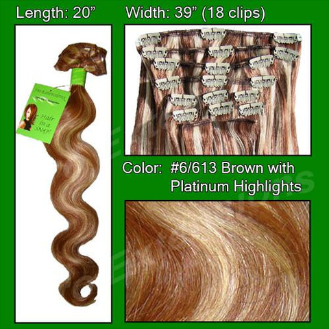 Pro-Extensions PRBD-20-6613   #6/613 Chestnut Brown w/ Platinum Highlights - Body Wave - Peazz.com