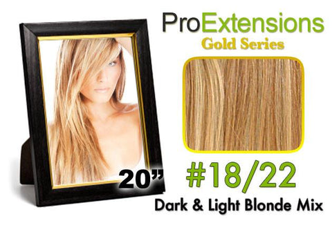 Pro-Extensions PRCT-20-1822   #18/22 Dark Blonde w/Light Blonde Highlights - Peazz.com