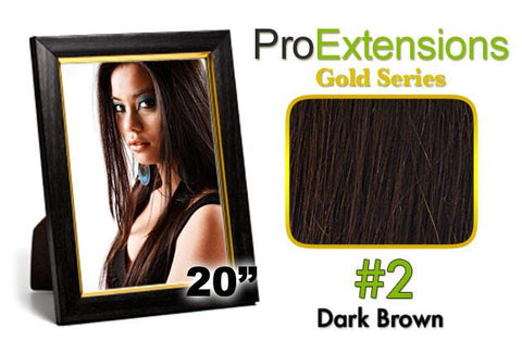 Pro-Extensions PRCT-20-2 #2 Dark Brown Pro Cute - Peazz.com