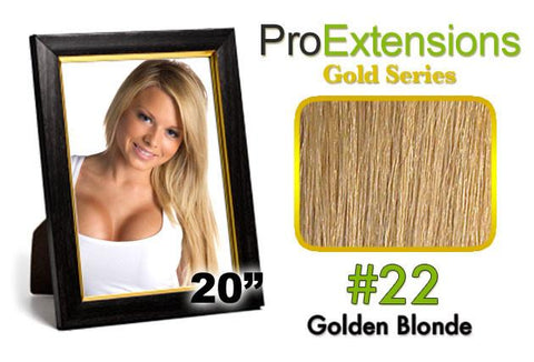 Pro-Extensions PRCT-20-22 #22 Medium Golden Blonde Pro Cute - Peazz.com
