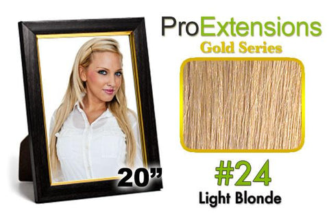 Pro-Extensions PRCT-20-24 #24 Light Blonde Pro Cute - Peazz.com