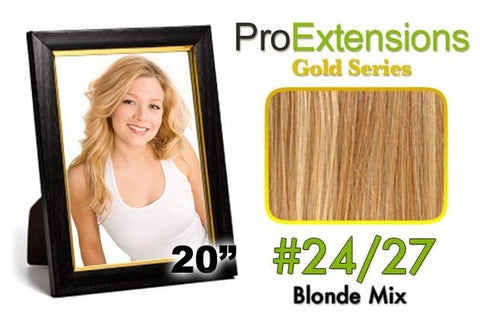 Pro-Extensions PRCT-20-2427 #24/27 Light Blonde w/Dark Blonde Highlights Pro Cute - Peazz.com