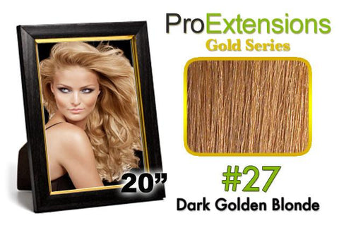 Pro-Extensions PRCT-20-27 #27 Dark Golden Blonde - Peazz.com