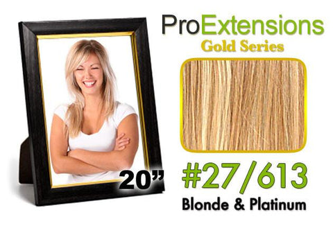 Pro-Extensions PRCT-20-27613 #27/613 Blonde w/Platinum Highlights Pro Cute - Peazz.com