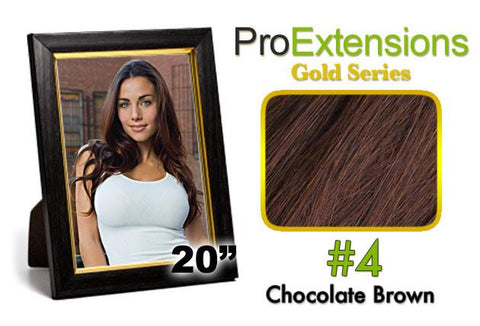 Pro-Extensions PRCT-20-4 #4 Chocolate Brown Pro Cute - Peazz.com