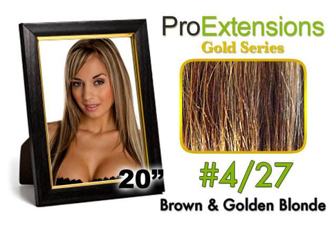 Pro-Extensions PRCT-20-427 #4/27 Brown w/Blonde Highlights Pro Cute - Peazz.com
