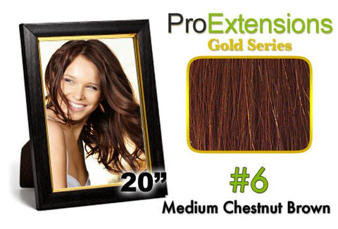Pro-Extensions PRCT-20-6 #6 Medium Brown Pro Cute - Peazz.com