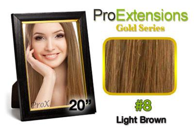Pro-Extensions PRCT-20-8 #8 Light Brown Pro Cute - Peazz.com