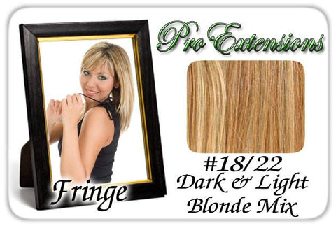 Pro-Extensions PRFR-1822   #18/22 Dark Blonde w/ Highlights Pro Fringe Clip In Bangs - Peazz.com