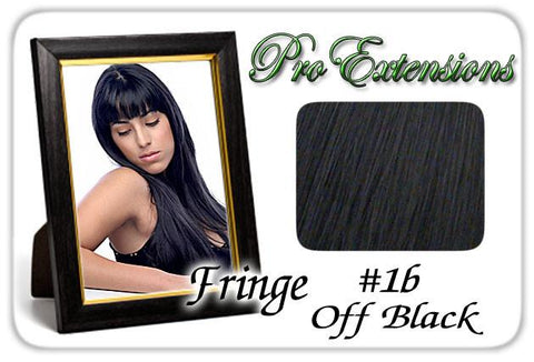 Pro-Extensions PRFR-1b   #1b Off Black Pro Fringe Clip In Bangs - Peazz.com