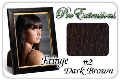 Pro-Extensions PRFR-2   #2 Dark Brown Pro Fringe Clip In Bangs - Peazz.com