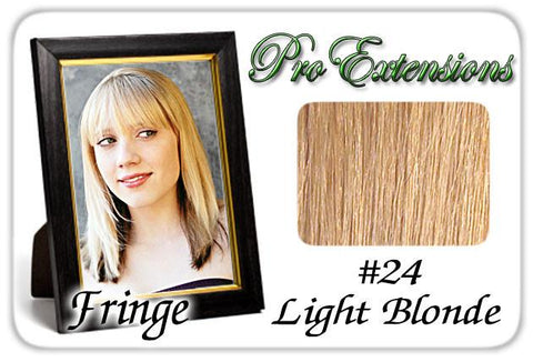Pro-Extensions PRFR-24   #24 Light Blonde Pro Fringe Clip In Bangs - Peazz.com