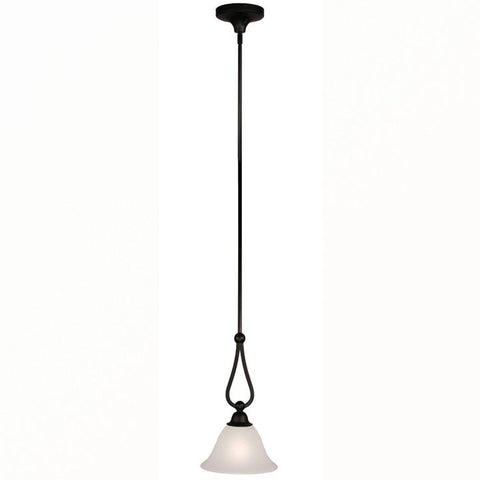 Z-Lite Carlisle Collection Bronze Finish One Light Mini Pendant - Peazz.com