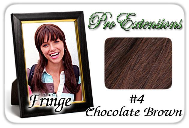 Pro-Extensions PRFR-4   #4 Chocolate Brown Pro Fringe Clip In Bangs