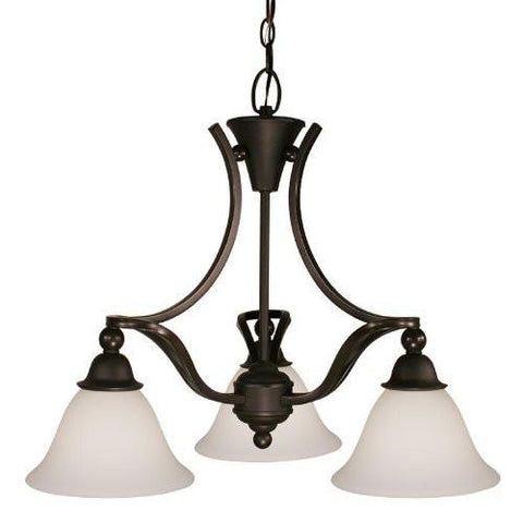 Z-Lite 318-3 Carlisle Collection 3 Light Chandelier - Peazz.com