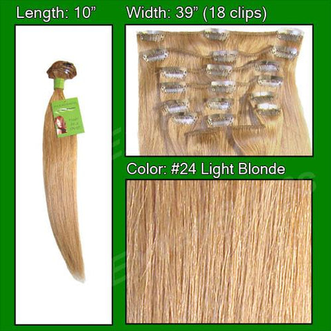 Pro-Extensions PRST-10-24 #24 Light Blonde - 10 inch - Peazz.com