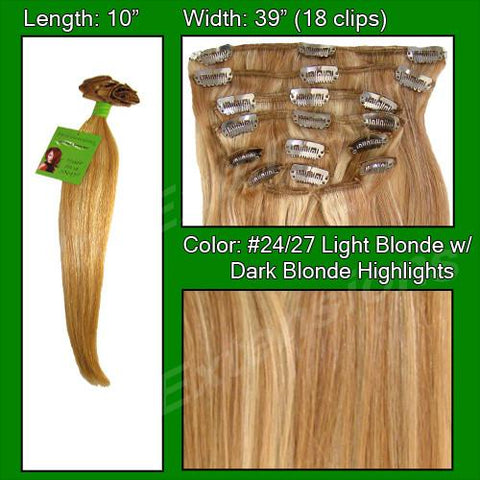 Pro-Extensions PRST-10-2427 #24/27 Light Blonde w/ Dark Blonde Highlights - 10 inch - Peazz.com